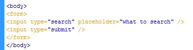 code for search-input field