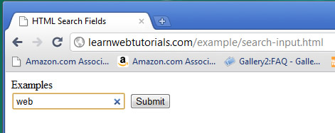 search input field with cancel button in chrome