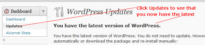 Wordpress latest version updated