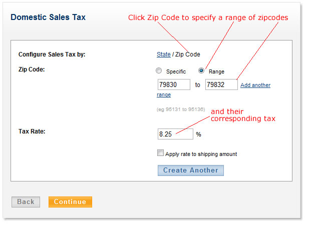 configure tax by zipcode