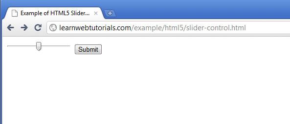html5 slider control