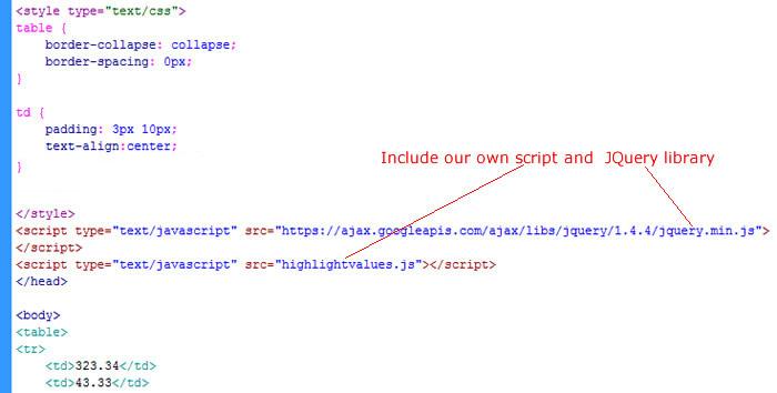include JQuery script