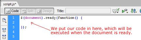 JQuery skeleton code