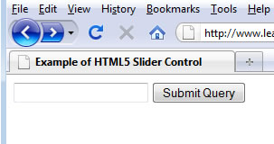 slider control on non-supporting browsers