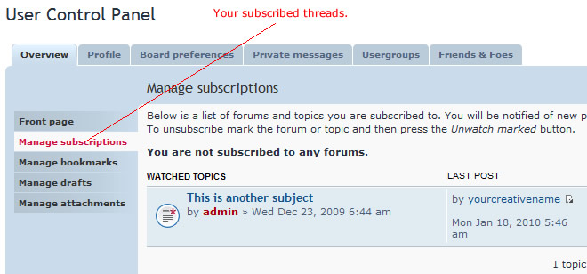 subscribe to web forum threads