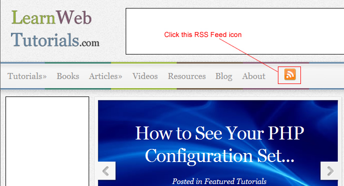 click RSS feed icon