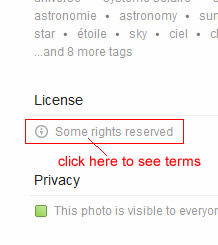Creative Common license terms