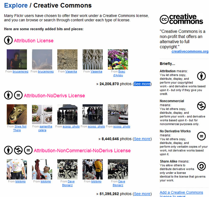 Creative Common on Flickr