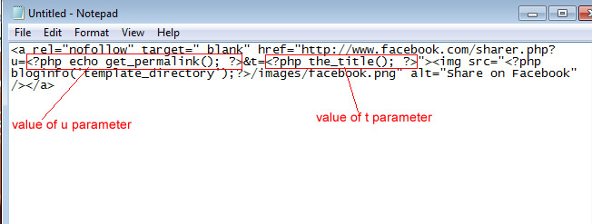 Dynamic Facebook share code for WordPress