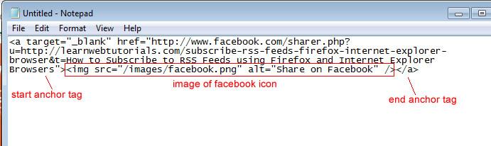 Facebook Share Code