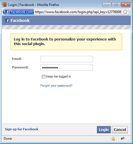 login to facebook. Facebook login