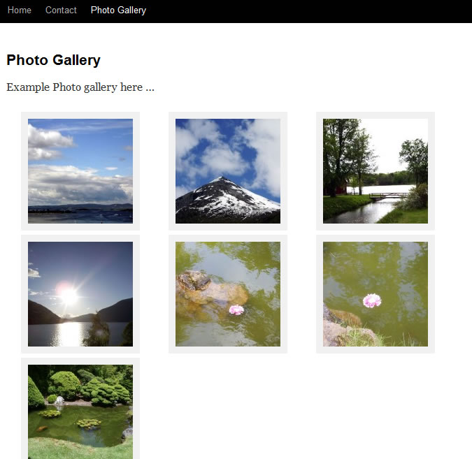 photo gallery working