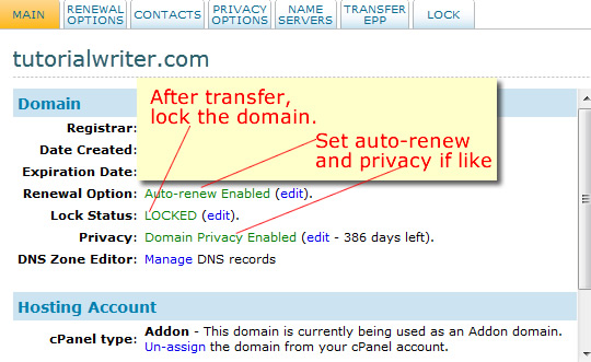 lock domain