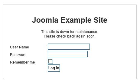 custom message when site is offline