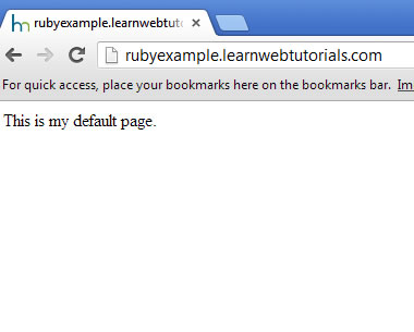 default page in subdomain