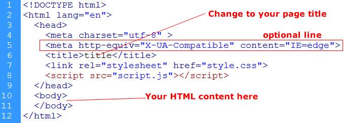 Html5 Basic Page