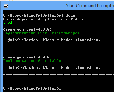 ri from command line