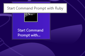 ruby tile on Windows Start page