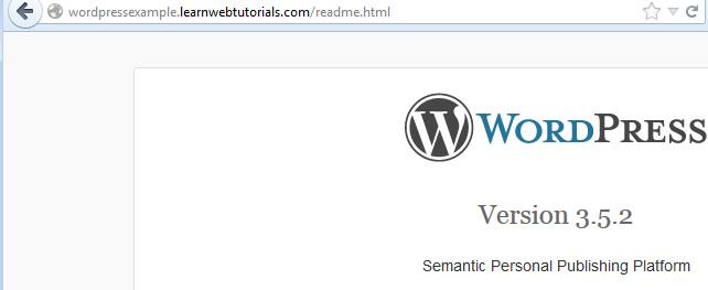 wordpress version in readme file