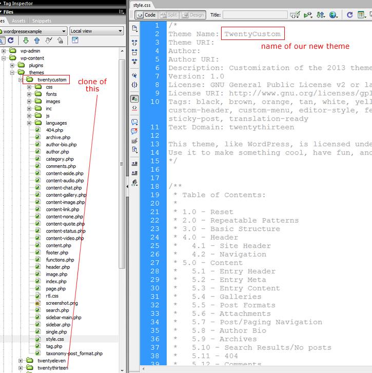 Clone WordPress Theme Files