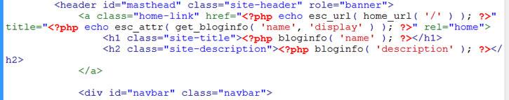 original header code