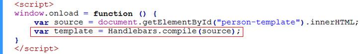 compile handlebarsjs template