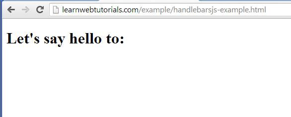 handlebarsjs start output