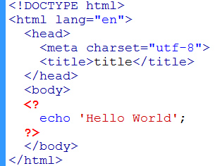 php short form tags