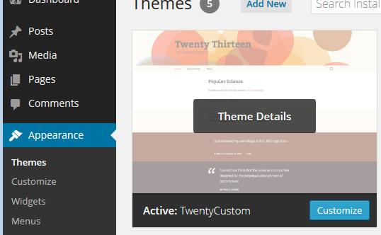 active theme details