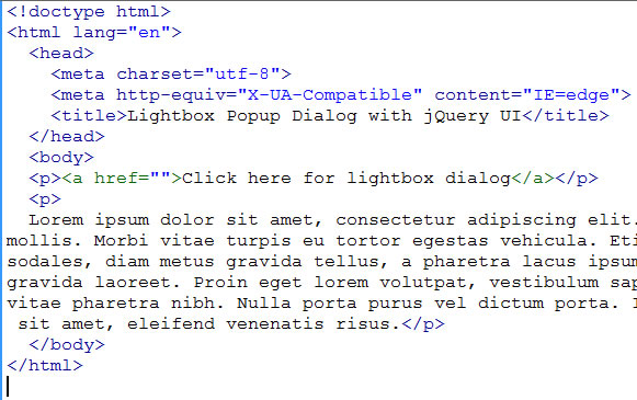HTML5 Page with Link
