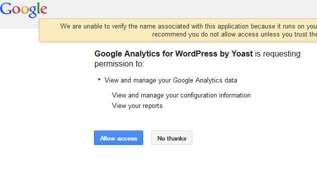 google analytics permission