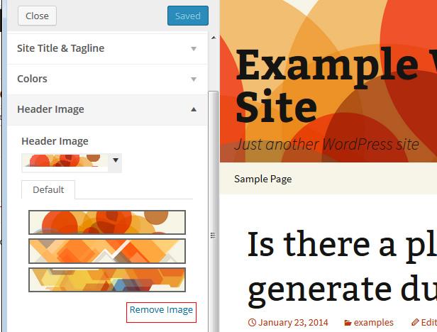 remove header image