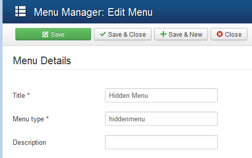 hidden menu setting