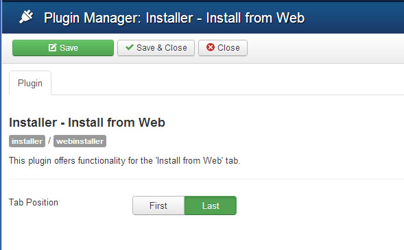 install from web position
