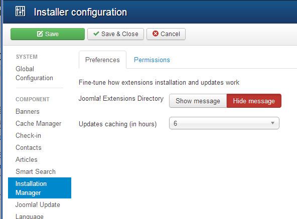 installer configuration