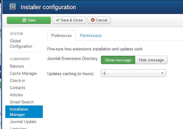 joomla installation manager