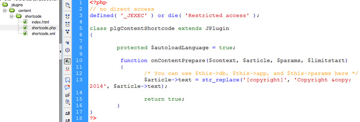 plugin php code