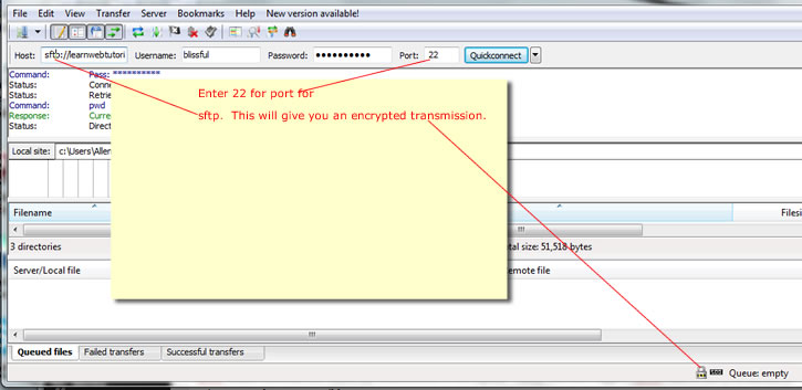 How to SFTP to your webhost using FileZilla | Learn Web