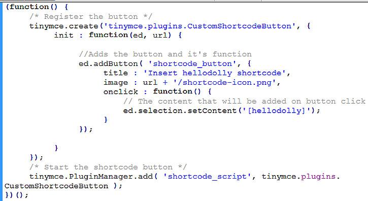 tinymce plugin code