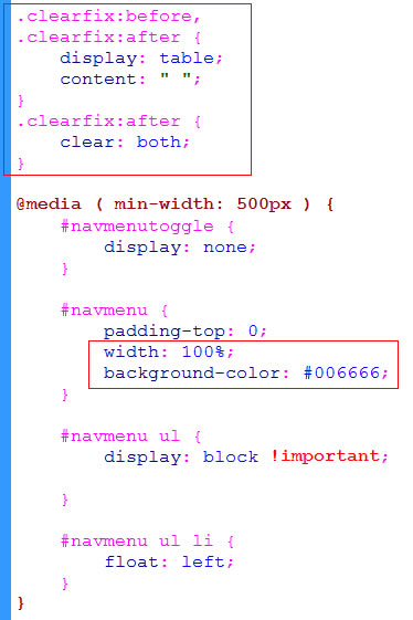 add clearfix to CSS