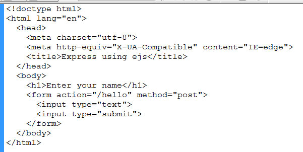 html using ejs