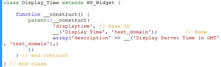extend WP_Widget class