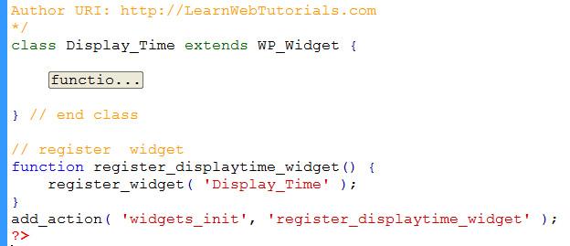 register widget