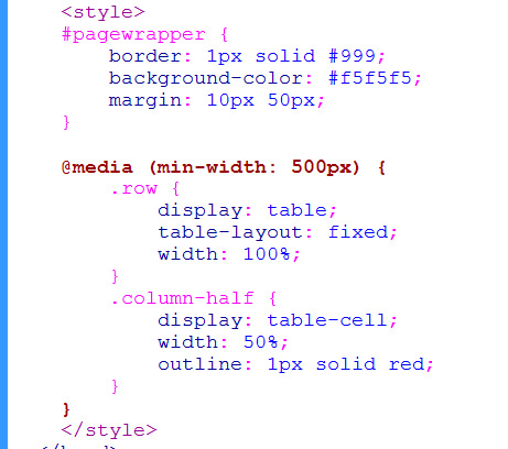 Responsive two column layout using table display learn web tutorials - Css display table tutorial ...