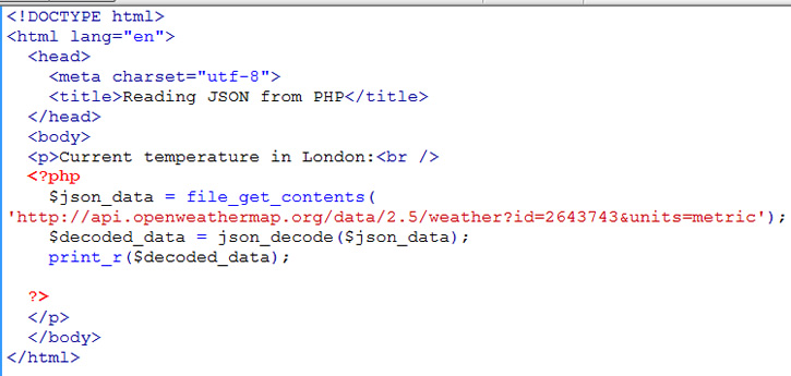 using PHP function file_get_contents