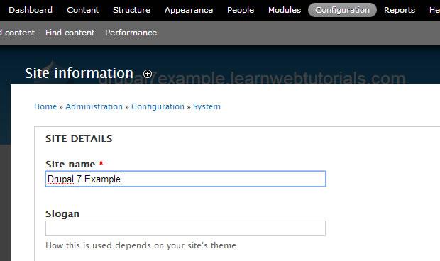 Drupal site name