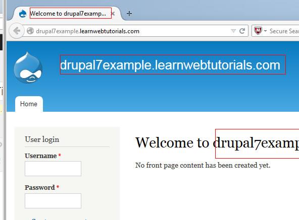 Drupal site title
