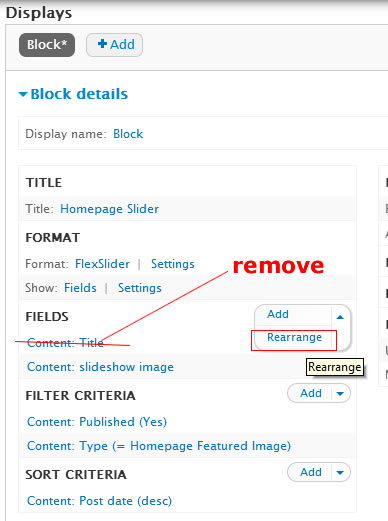 remove title field