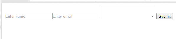 typical contact form