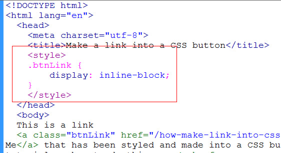 add css style block